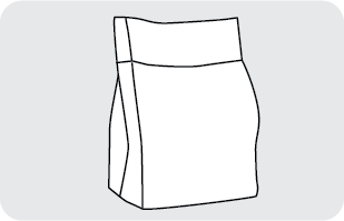 Flat bottom stand-up pouches